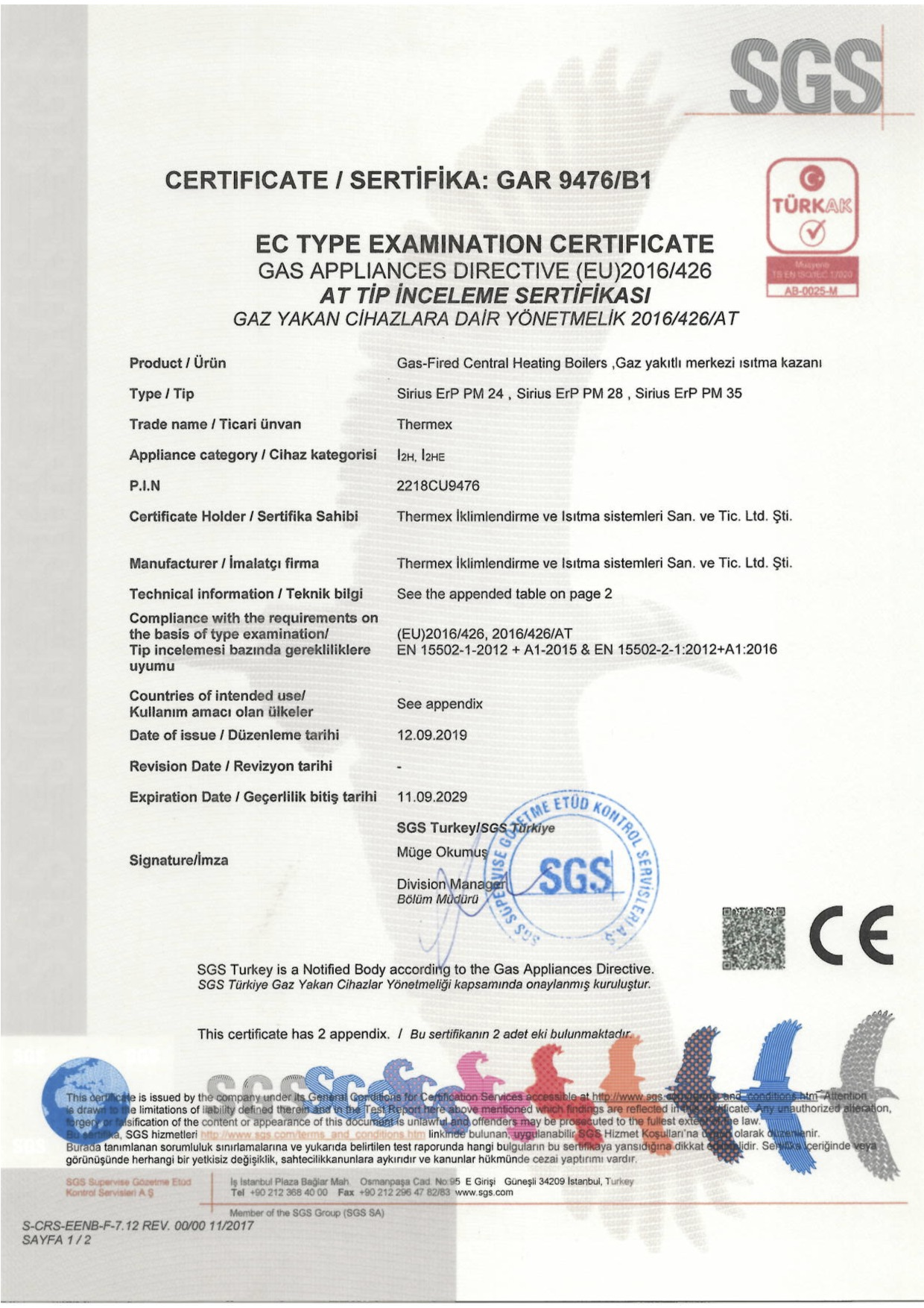 S-CRS-EE-F-31-Certificate-REV0200-thermex-SIRIUS