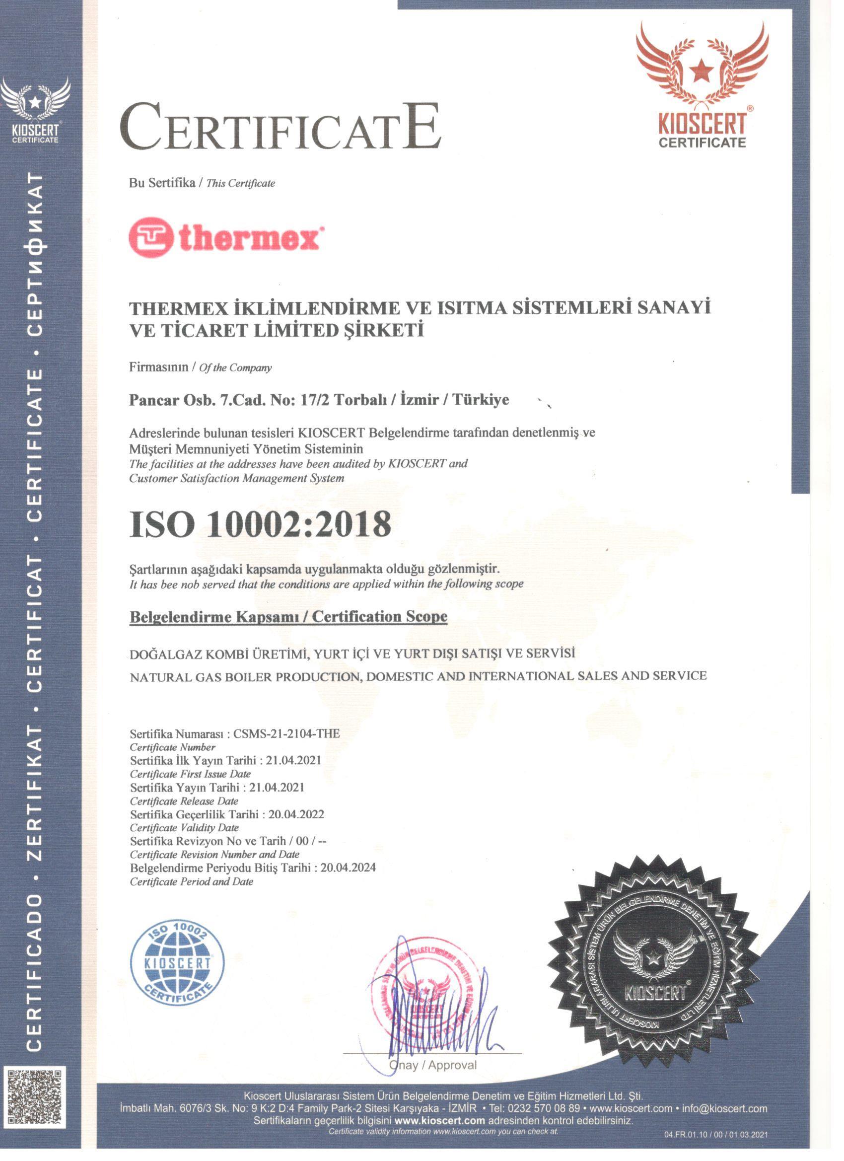 ISO-10002-Belgesi