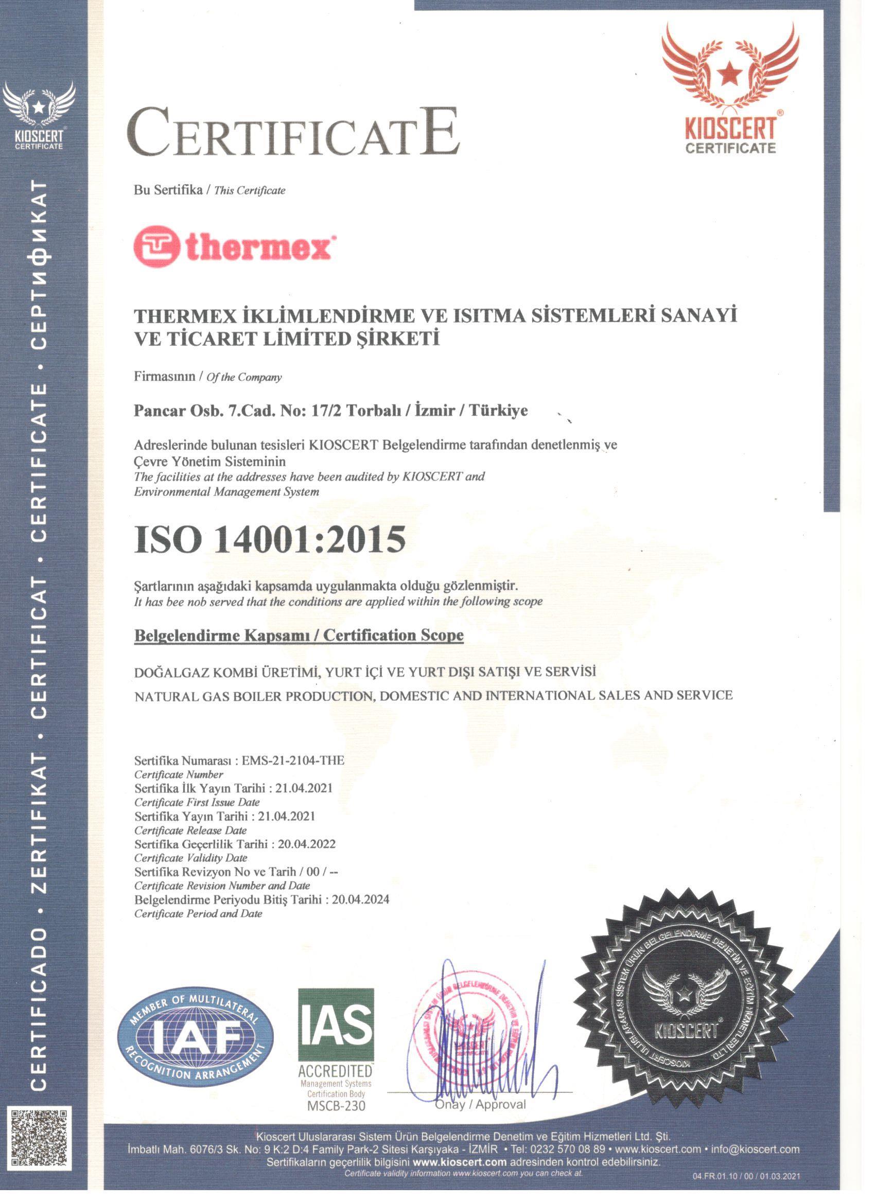 ISO-14001-Belgesi